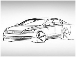 vwrt-VW-Passat-sketch-design