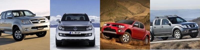 VW Amarok vs Toyota Hilux vs Nissan Navara vs Mitsubishi Triton